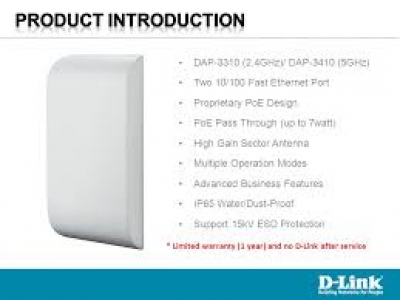 DAP-3410 Wireless N 5GHz PoE Outdoor Access Point with PoE Pass-Through ΤΙΜΗ :89,90€